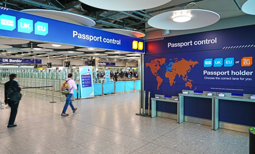You will always need to show your passport to immigration officials upon entering and leaving the European Union and/or Schengen Zone. EQRoy/Shutterstock.com