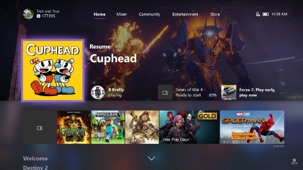 Xbox One Update Brings More Customization To Home Screen