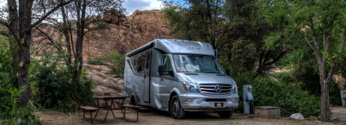 The summer camping season at Point of Rocks RV Park. Big Sting Country Music Festival Prescott