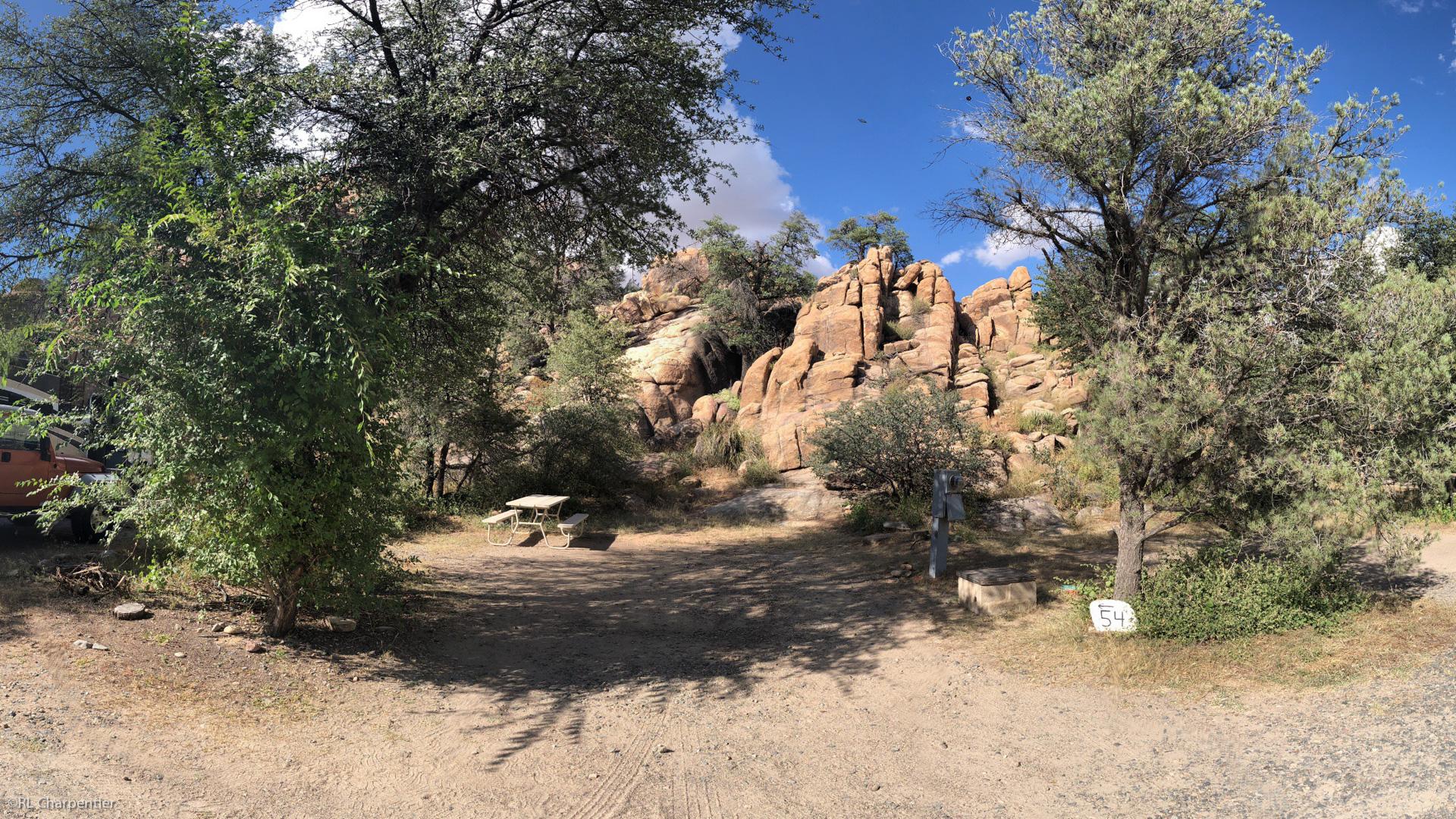 Campsite in the Granite Dells Prescott