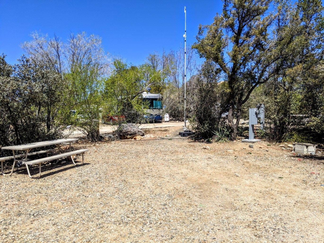 Campsite 98 at Point of Rocks RV Campground