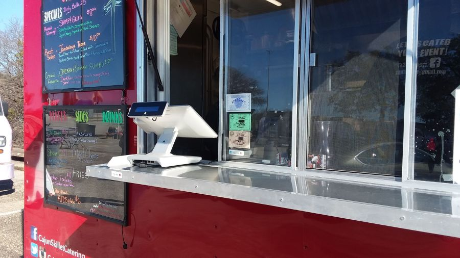 PointofSale Point of Sale system on food truck counter food truck pos system