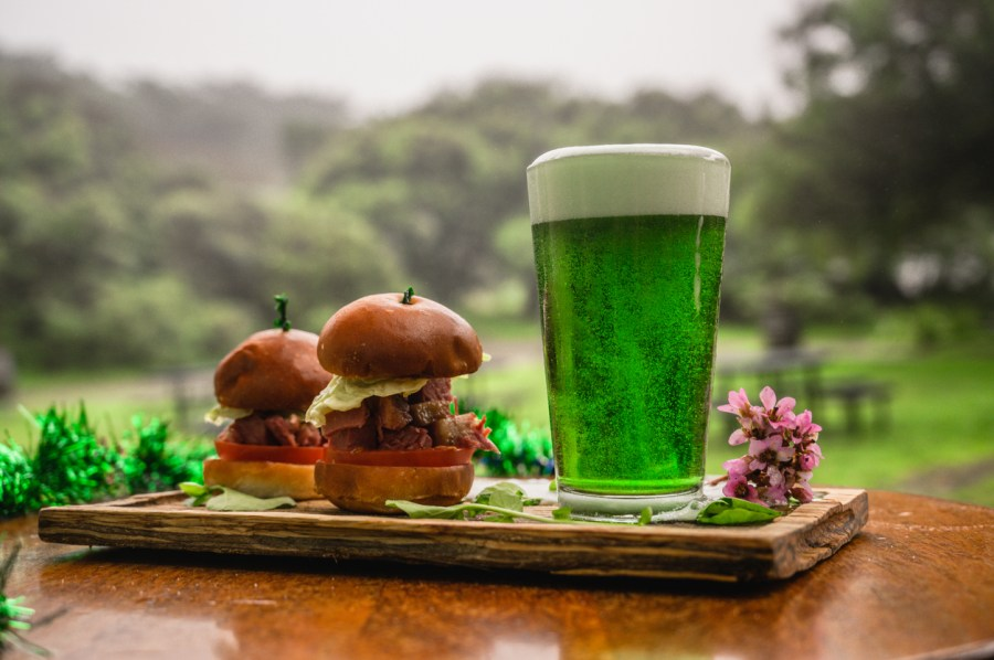 PointOfSale green beer and corned beef sandwiches St. Patrick's Day