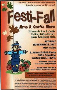 Zonata Club's 2017 Fest-Fall Arts & Crafts Show @ St. Ambrose Catholic Church