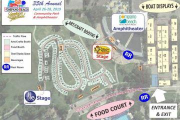 Pompano Beach Seafood Festival 2019 Site Map