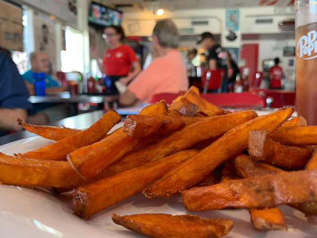 Sweet potato fries at Nelson's Diner in Pompano Beach.