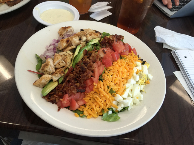 A classic Cobb salad at Red Rox Diner in Lighthouse Point.