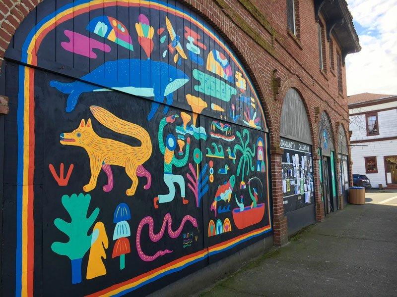 Mural by Wyatt Hersey on the Grandi Building