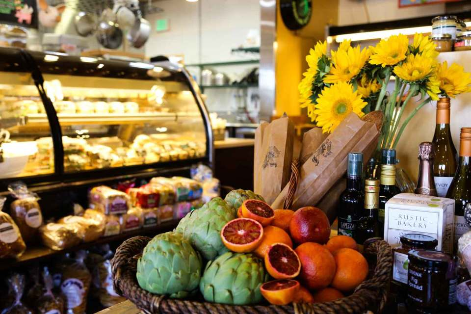 Inverness Park Market fruit, groceries and deli.