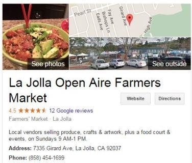 LaJolla Open Aire Farmers Market