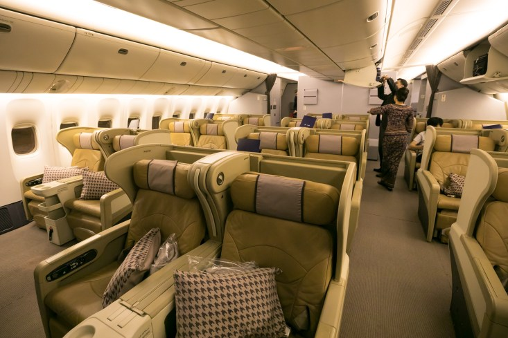 Review Singapore Airlines 777 200 Business Class