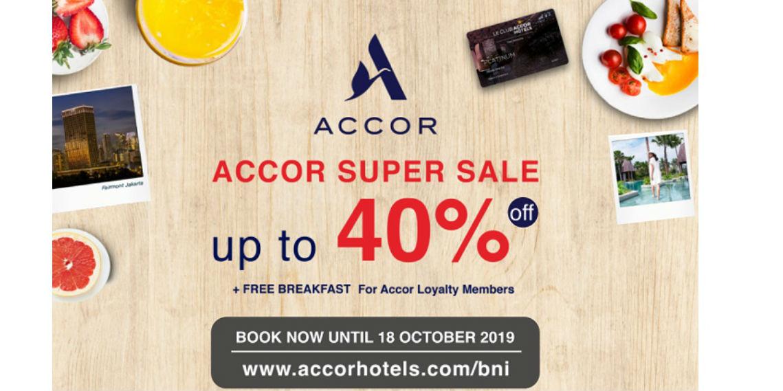 Accor Diskon Hingga 40% Pakai Kartu Kredit BNI