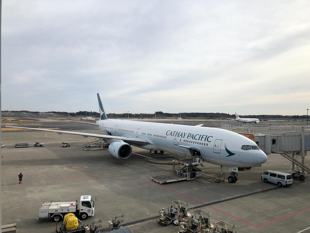 Review Cathay Pacific B777-300 Narita to Jakarta