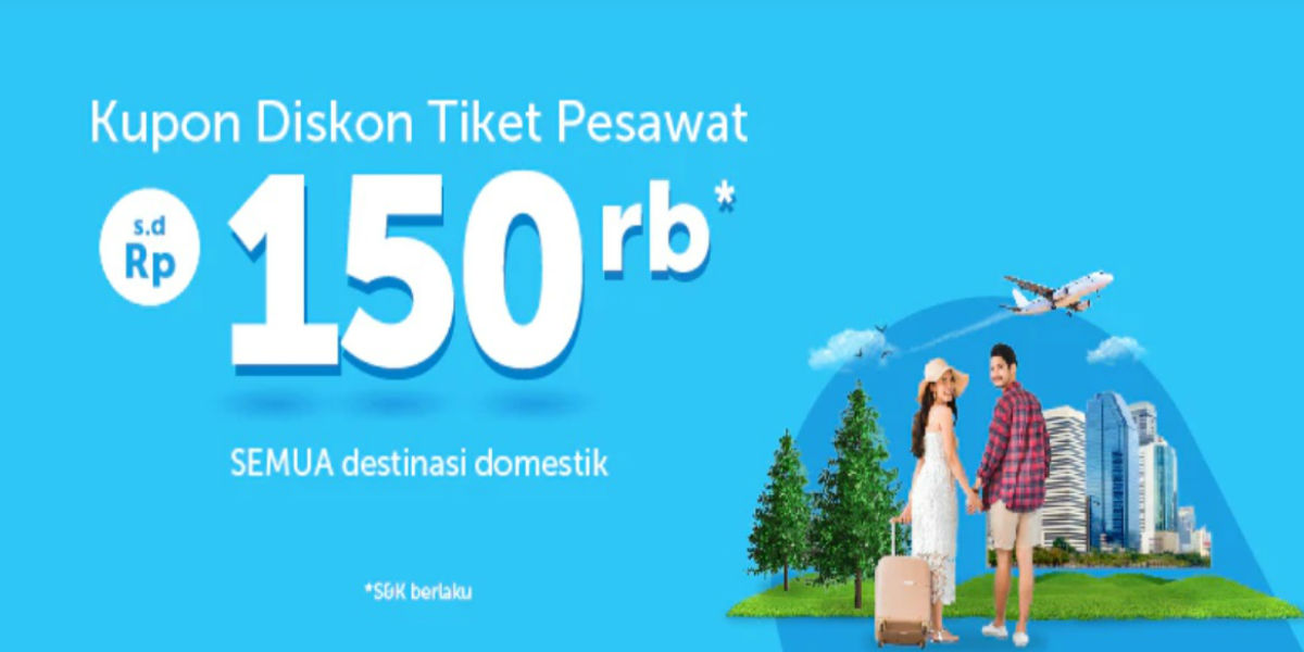 Diskon Rp150 000 Tiket Pesawat Di Traveloka Points Geek
