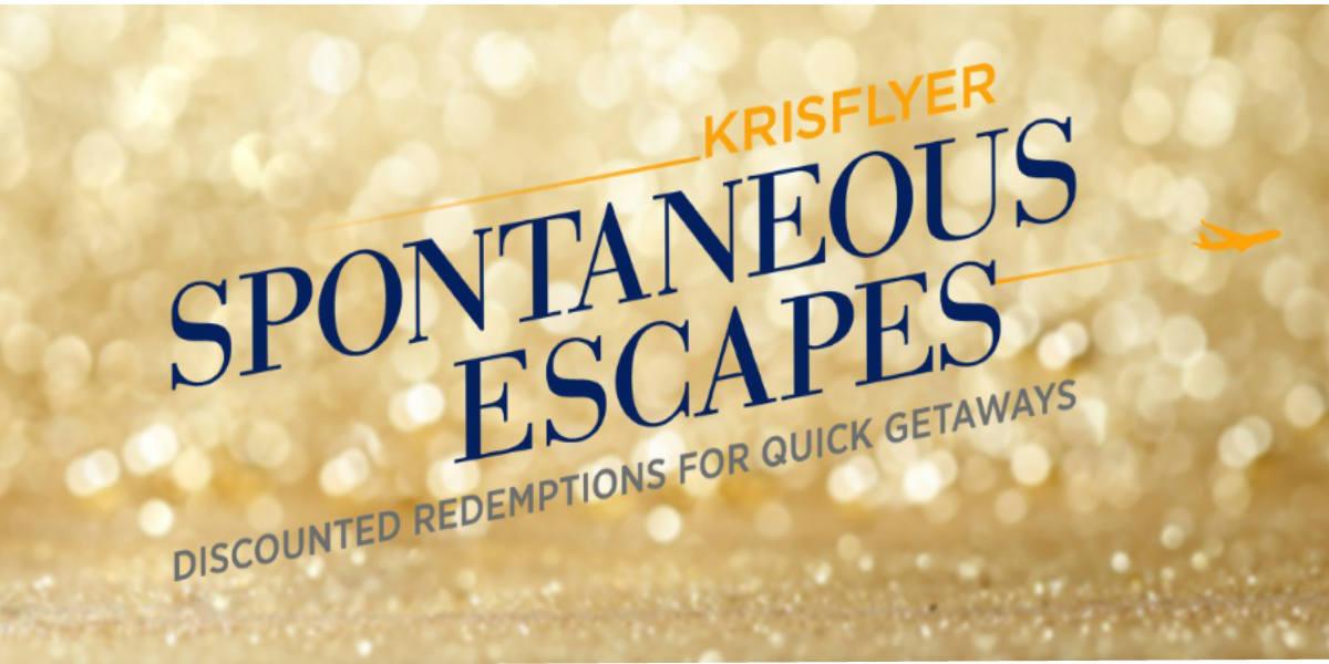 KrisFlyer Spontaneous Escapes 2020