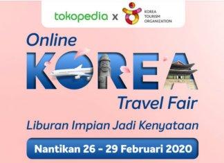 Tokopedia online korea travel fair