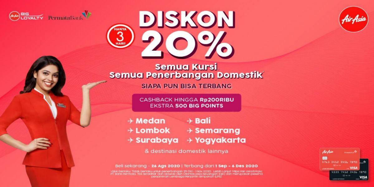 Tiket Domestik Airasia Diskon 20 S D 26 Agustus 2020 Points Geek
