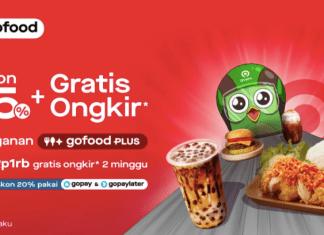Gofood tokopedia gratis diskon ongkir