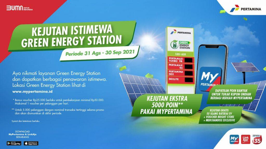 Green Energy Station Menghadirkan Energi untuk Kebaikan Negeri Mypertamina