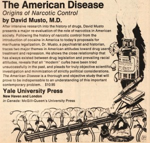 Yale University Press ad for the 1973 edition of 'The American Disease'.