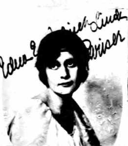 Edna Jellinek Lindh Pariser, E.M.'s younger sister, in a 1921 passport photo