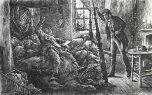 """In the Court,"" Luke Fildes' illustration of the opium den in Charles Dickens's ""The mystery of Edwin Drood"" (1870)."