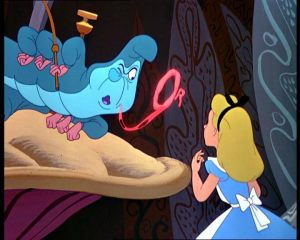 """The caterpillar in Disney's 1951 rendition of Alice in Wonderland asks the all-important question, """"Who are you?"""""""