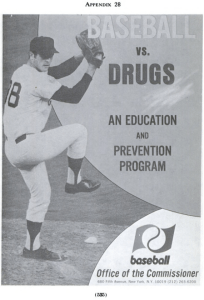 mets. baseball v. drugs prevention