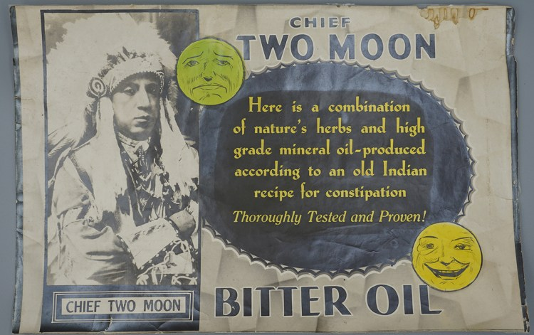 Chief Two Moon Bitter Oil Advertisement