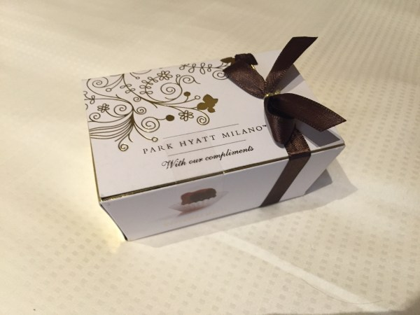 Park Hyatt Milan Chocolates