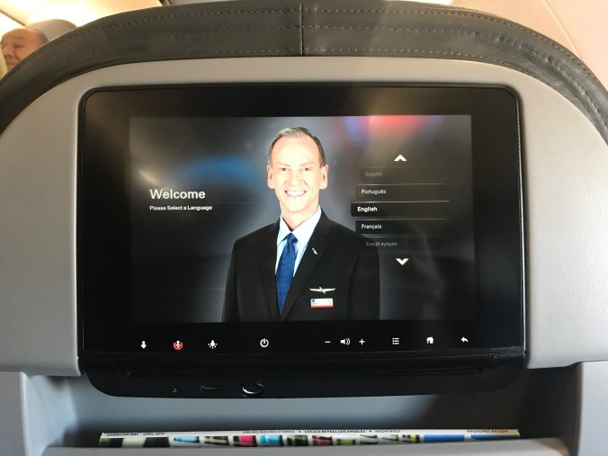 American Airlines A321 economy ife