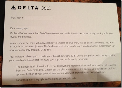 Here S What Delta S 360 Letter To Elite Members Looks Like