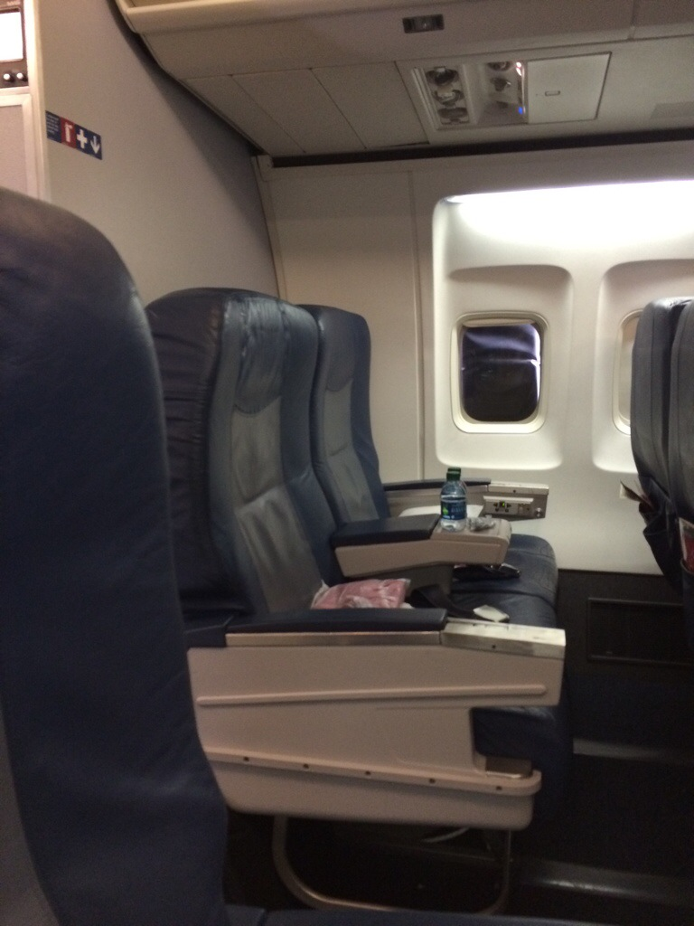First Class Problems Last Row In 757 Delta First Class