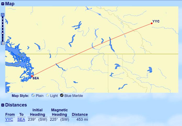 yyc-sea-distance