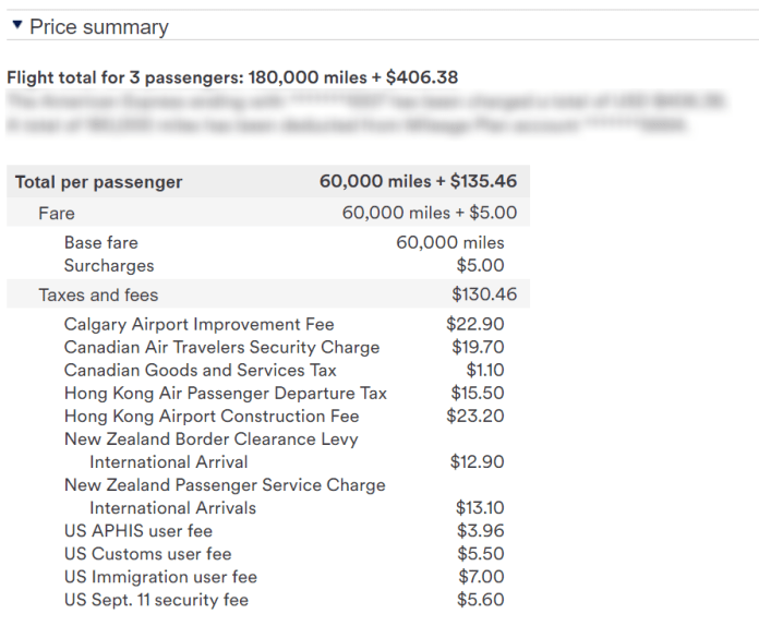Taxes for NZ Trip