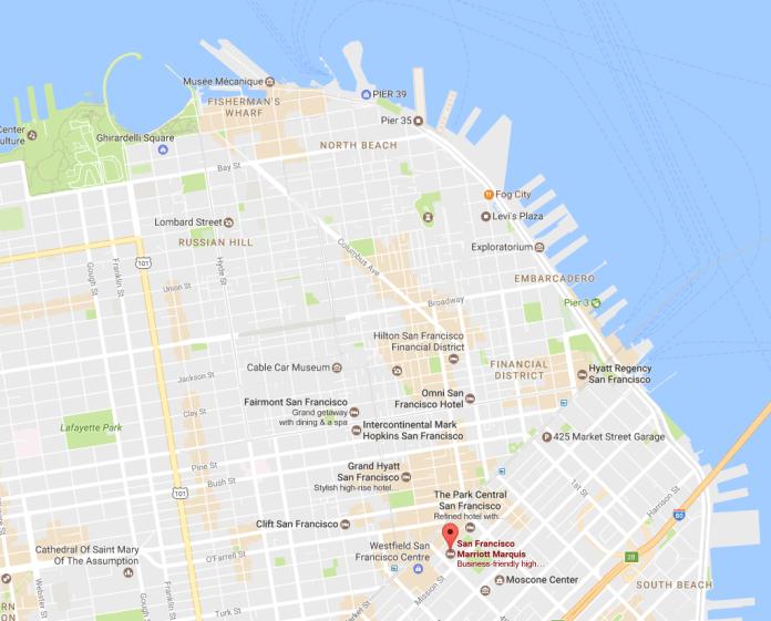 Marriott Marquis Map