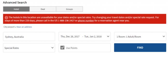 Marriott No Availability