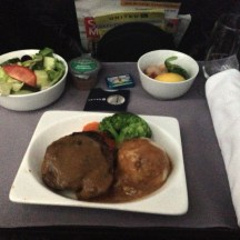 Dinner on the Chicago to Anchorage flight