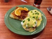 Kodiak Eggs Benedict at Snow City Cafe