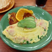 Crabby Omelete at Snow City Cafe