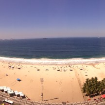 Copacabana Beach from our room at the JW Marriott