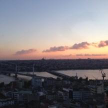 Istanbul sunset Galata Tower