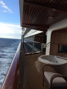 Entire verandah at sea