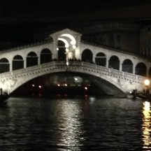Rialto at night time