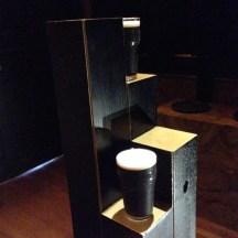 Miniature Guinness glasses for a taste testing