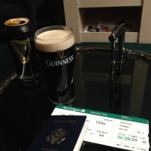 My farewell pint of Guinness in the Rineanna Lounge