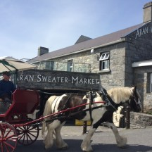 The Aran Sweater Market and a horse drawn carriage