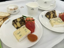 Cheese plate featuring Cahill's Porter Cheese and Wicklow Blue Cheese