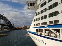 Voyager of the Seas and Sydney Harbour Bridge