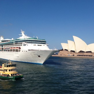 Rhapsody of the Seas departing Sydney